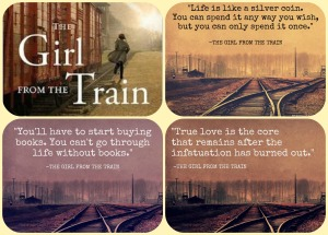 girl from the train collage